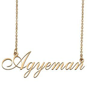 Custom Personalized Agyeman Name Necklace